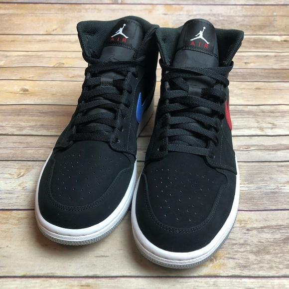 134c83c8d3d5 Nike Air Jordan 1 Retro Mid Swoosh Sz 10